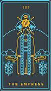 The Empress Tarot card in Golden Thread Tarot deck