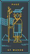 Page of Wands Tarot card in Golden Thread Tarot deck