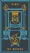 King of Wands Tarot card in Golden Thread Tarot deck