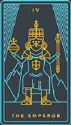 The Emperor Tarot card in Golden Thread Tarot Tarot deck