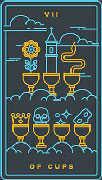Seven of Cups Tarot card in Golden Thread Tarot deck
