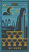 Eight of Cups Tarot card in Golden Thread Tarot deck