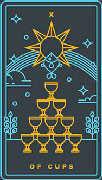 Ten of Cups Tarot card in Golden Thread Tarot deck