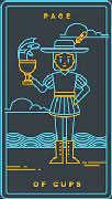 Page of Cups Tarot card in Golden Thread Tarot deck