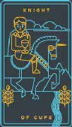 Knight of Cups Tarot card in Golden Thread Tarot deck
