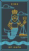 King of Cups Tarot card in Golden Thread Tarot deck