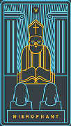 The Hierophant Tarot card in Golden Thread Tarot deck