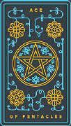Ace of Coins Tarot card in Golden Thread Tarot Tarot deck