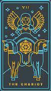 The Chariot Tarot card in Golden Thread Tarot Tarot deck