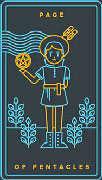 Page of Coins Tarot card in Golden Thread Tarot deck