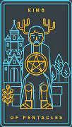 King of Coins Tarot card in Golden Thread Tarot deck