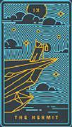 The Hermit Tarot card in Golden Thread Tarot Tarot deck