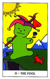 The Foolish Man Tarot Card - Gummy Bear Tarot Deck