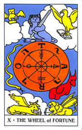 The Wheel of Fortune Tarot Card - Gummy Bear Tarot Deck