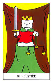 Justice Tarot Card - Gummy Bear Tarot Deck
