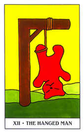 The Hanged Man Tarot Card - Gummy Bear Tarot Deck