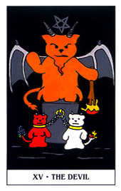 The Devil Tarot Card - Gummy Bear Tarot Deck