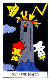 The Blasted Tower Tarot Card - Gummy Bear Tarot Deck