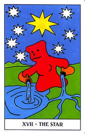 The Star Tarot Card - Gummy Bear Tarot Deck