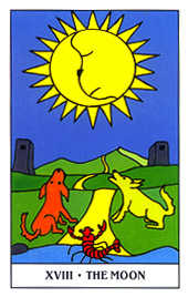 The Moon Tarot Card - Gummy Bear Tarot Deck