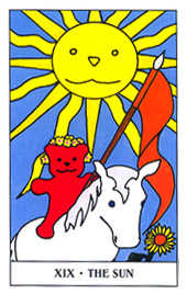The Sun Tarot Card - Gummy Bear Tarot Deck