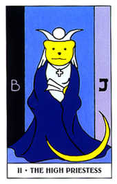 The High Priestess Tarot Card - Gummy Bear Tarot Deck