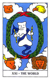 The World Tarot Card - Gummy Bear Tarot Deck