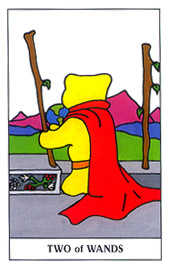 Two of Staves Tarot Card - Gummy Bear Tarot Deck