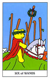 Six of Batons Tarot Card - Gummy Bear Tarot Deck