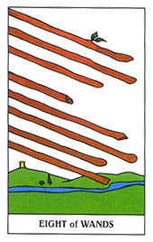 Eight of Wands Tarot Card - Gummy Bear Tarot Deck