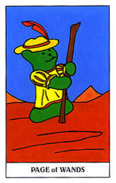 Valet of Batons Tarot Card - Gummy Bear Tarot Deck
