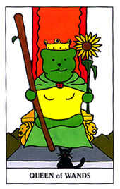 Queen of Staves Tarot Card - Gummy Bear Tarot Deck
