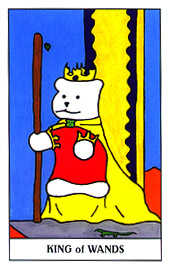 King of Batons Tarot Card - Gummy Bear Tarot Deck