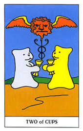 Two of Ghosts Tarot Card - Gummy Bear Tarot Deck