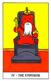 The Emperor Tarot Card - Gummy Bear Tarot Deck
