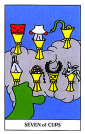 Seven of Cups Tarot Card - Gummy Bear Tarot Deck
