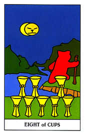 Eight of Cups Tarot Card - Gummy Bear Tarot Deck