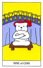 Nine of Bowls Tarot Card - Gummy Bear Tarot Deck