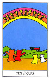 Ten of Hearts Tarot Card - Gummy Bear Tarot Deck