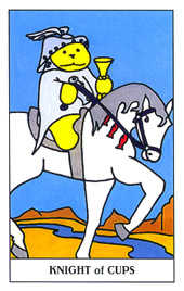 Knight of Ghosts Tarot Card - Gummy Bear Tarot Deck