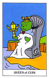 Queen of Cauldrons Tarot Card - Gummy Bear Tarot Deck
