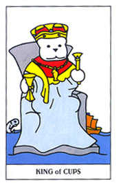 King of Cups Tarot Card - Gummy Bear Tarot Deck