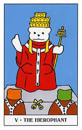The Hierophant Tarot Card - Gummy Bear Tarot Deck