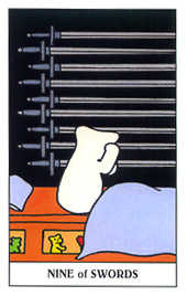 Nine of Swords Tarot Card - Gummy Bear Tarot Deck
