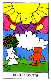 The Lovers Tarot Card - Gummy Bear Tarot Deck