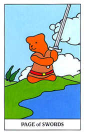 Page of Spades Tarot Card - Gummy Bear Tarot Deck