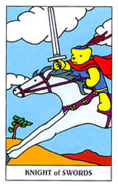 Knight of Swords Tarot Card - Gummy Bear Tarot Deck