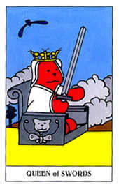 Reine of Swords Tarot Card - Gummy Bear Tarot Deck
