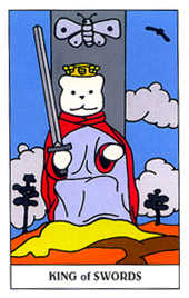 Roi of Swords Tarot Card - Gummy Bear Tarot Deck
