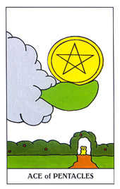 Ace of Coins Tarot Card - Gummy Bear Tarot Deck